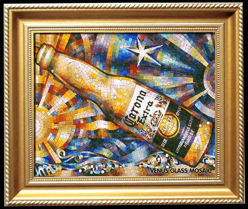 玻璃马赛克装饰画 朋友家买了二幅装饰画放在客厅