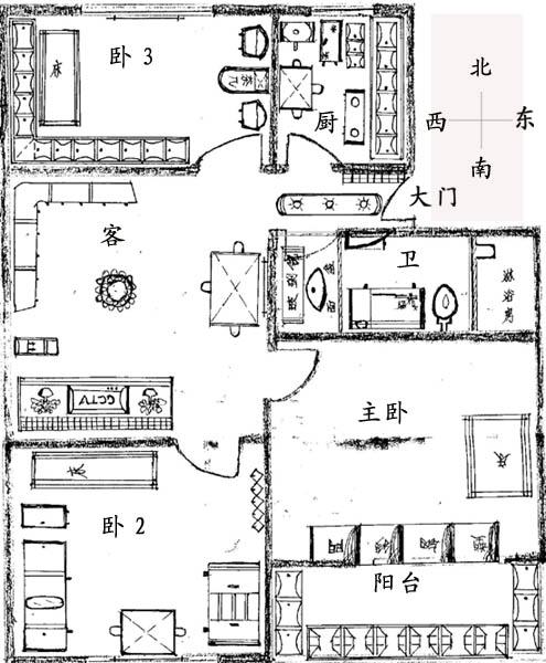 我的房子装修设计草图,请设计师看看,提下意见