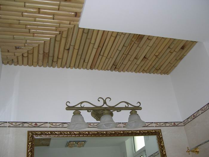 大厅竹子吊顶效果图
