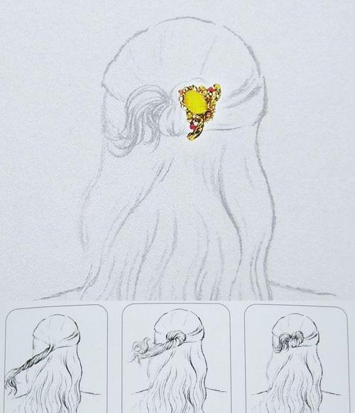 头发的画法新娘素描分享展示