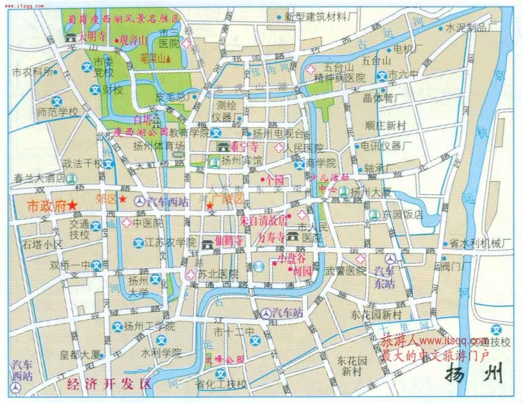 扬州老城区地图(不包括开发区)