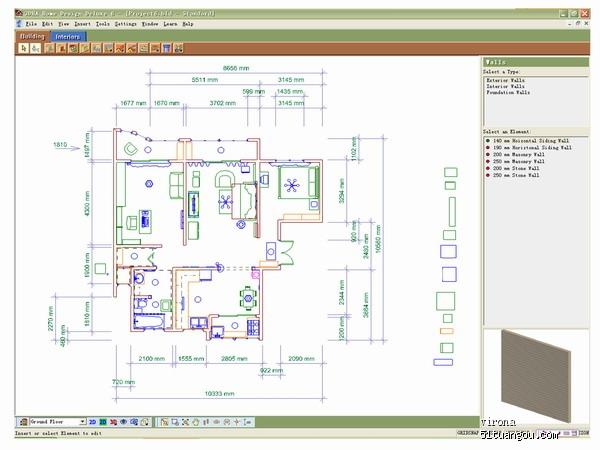 平面设计图01  房间面积106平米