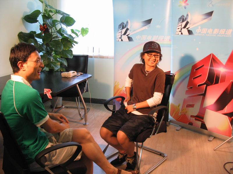 周六CCTV 6中国电影报道有宝贝的专访