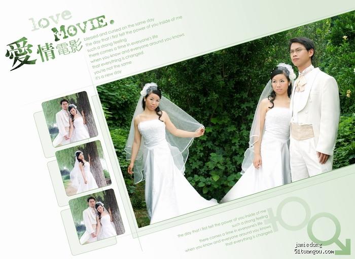 新鲜出炉的婚纱照设计,拿出来晒晒图片