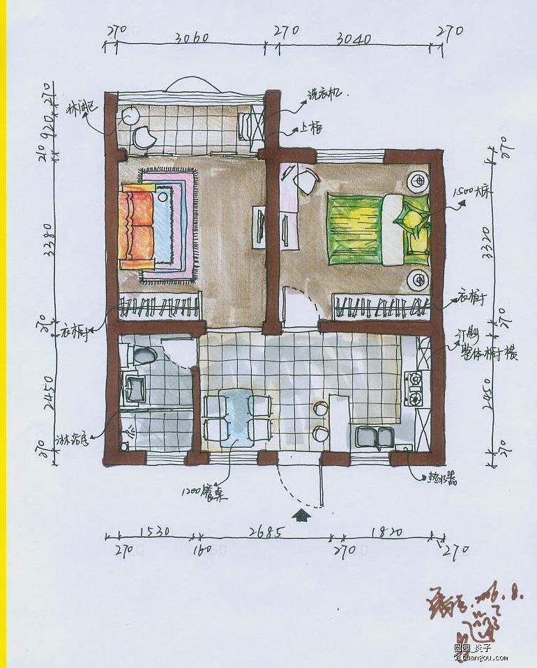 100平方复式楼平面图农村3层复式楼平面图复式楼平图片