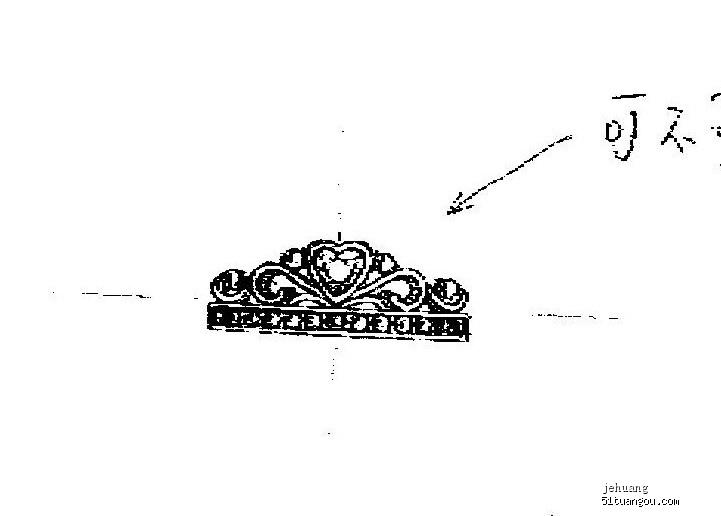 简约戒指手绘设计图