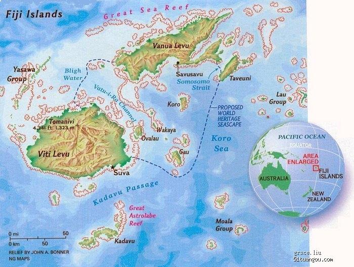 斐济地图中文版