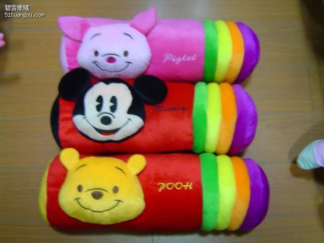 【猪猪DE魔法城堡】超可爱彩条卡通圆条抱枕-超可爱彩条卡通圆条抱枕