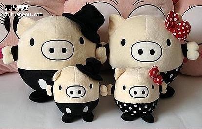 超可爱黑白猪猪,豆豆猪,绿豆娃娃,变身流氓兔,大眼青蛙等多款卡通玩偶