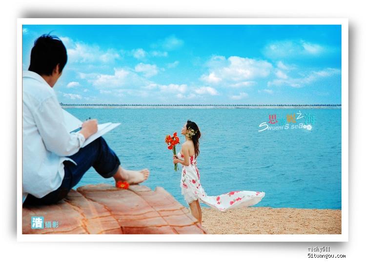 """金山海滩婚纱照---""""思薇妮""""之海 p7秀相册照 ★by 浩摄影"""