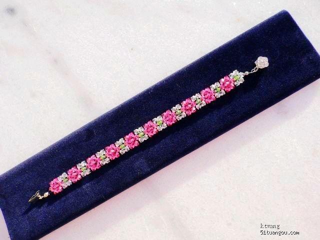 偶可以入会吗 串珠 水晶玫瑰 自编的玫瑰花串珠教程高清图片