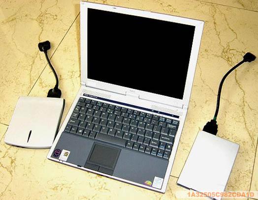 闲置NEC笔记本电脑转让,飞利浦便携式DVD转让