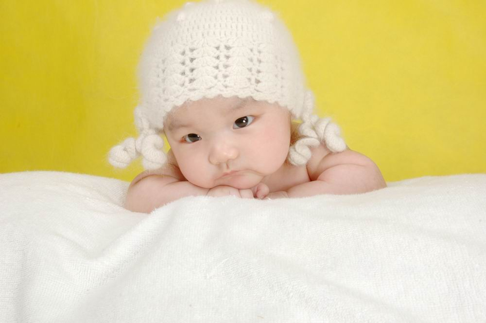 思考图片可爱萌图小孩