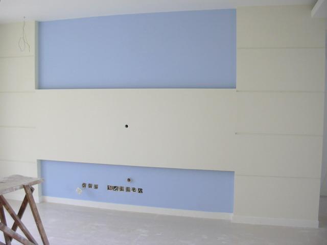 如题,淡麦色墙壁 浅蓝色底,横隔板上下槽内会放白色灯带,大家
