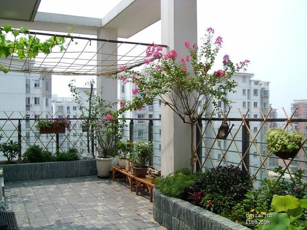 欧式别墅庭院花池图片
