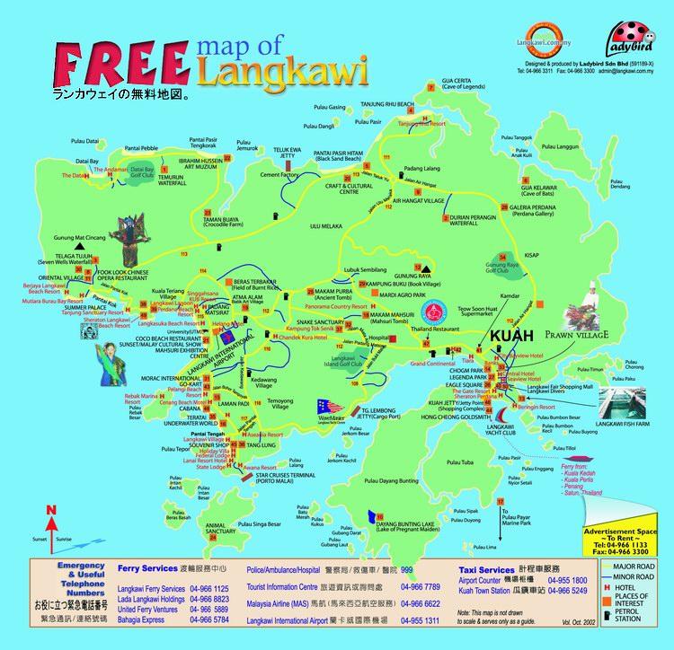 兰卡威地图