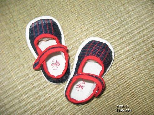 手工棉鞋鞋样图纸太阳花的