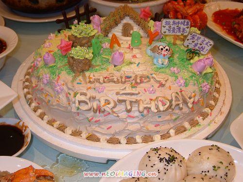 儿子一周岁的生日蛋糕