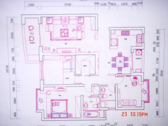 九城二期(浦东虹桥公寓)143平米3房2厅2卫- 尊景设计小东施工> 打造花