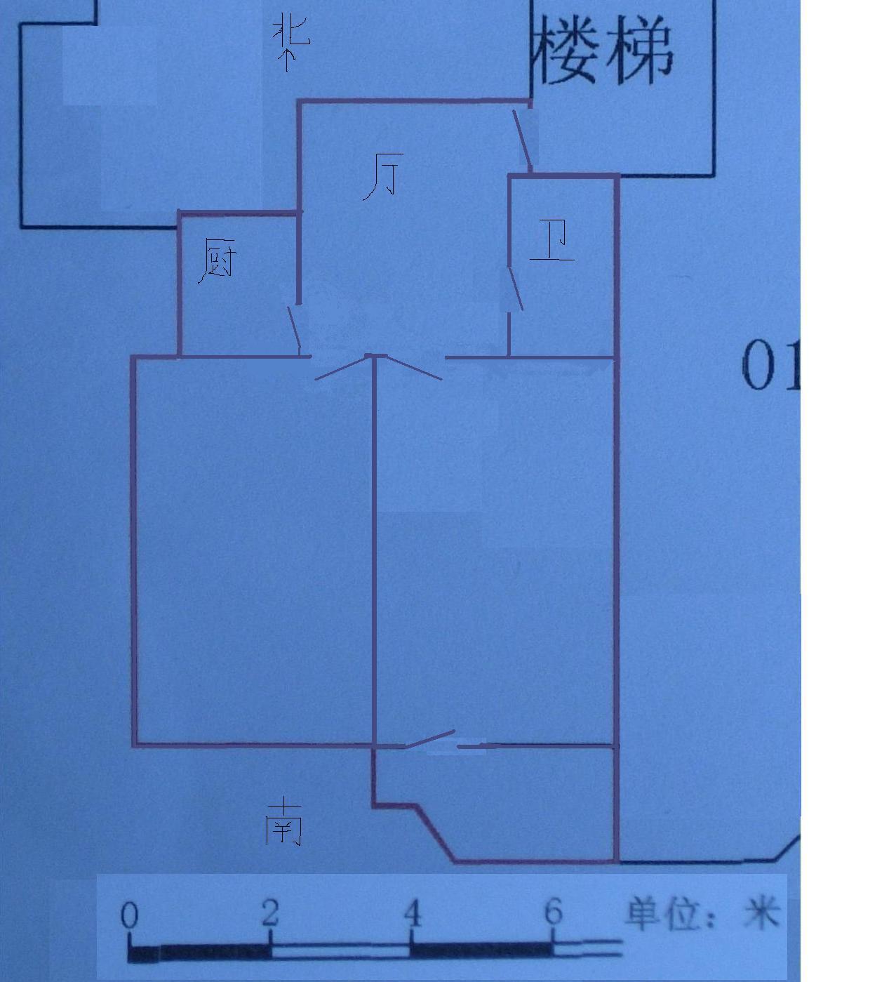 60平米的二手房2 1 1该如何装修 见平面图 高清图片