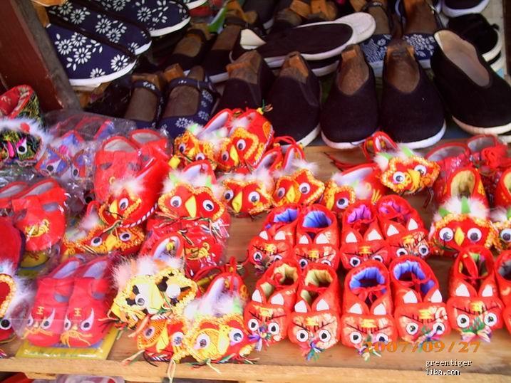布老虎鞋子,老虎枕头——纯手工制作