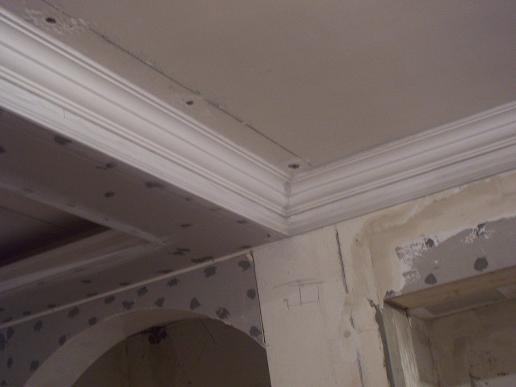 客厅的石膏顶角线