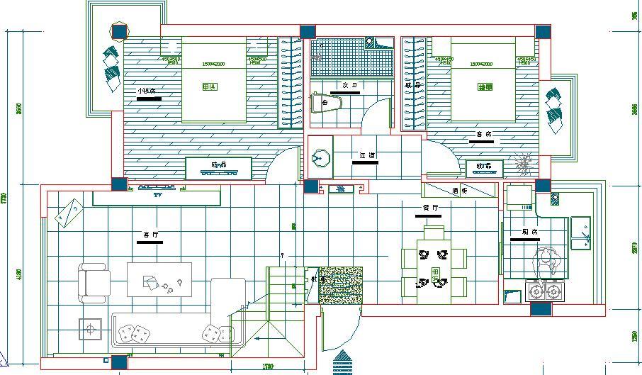 二层楼平顶设计图