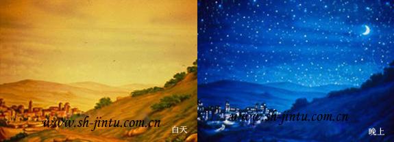 超强手绘 会发光的天花板 天花板上的星空图