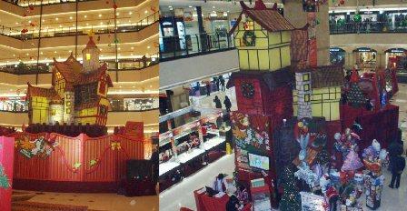 家来贴一贴各大商场是怎么装点圣诞气氛的吧