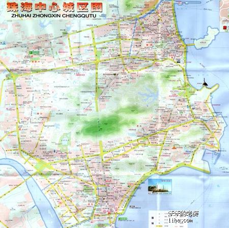 珠海市区地图