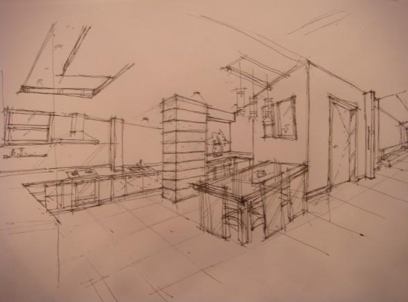 餐厅手绘室内效果图 动手网