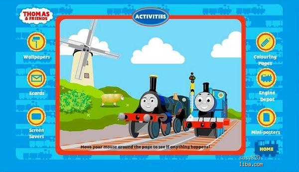 火车头形象,八卦一下,thomas的卡通片也很好看哦