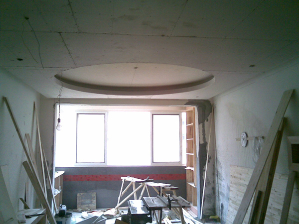 看看我家客厅的大圆顶