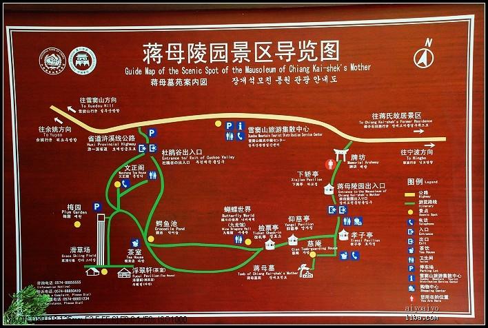 溪口风景区地图