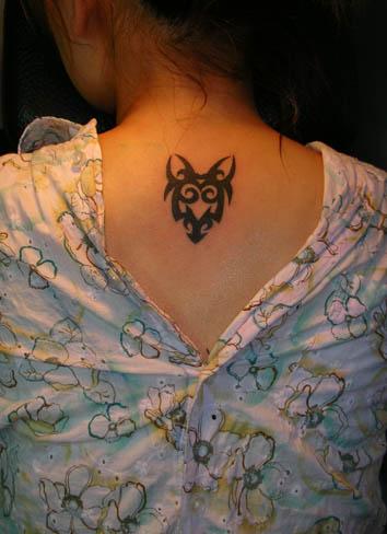 脖子伤疤遮盖纹身分享展示