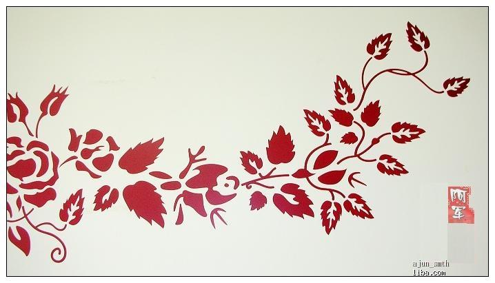 我在墙上贴的墙贴画