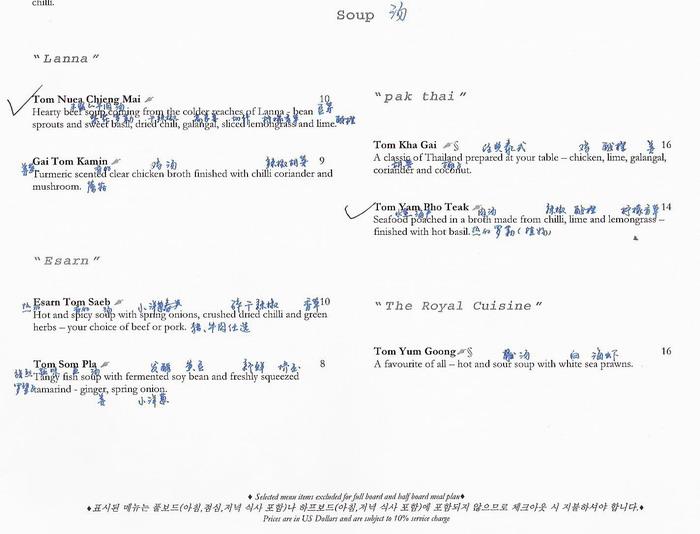 内附菜单及活动项目明细