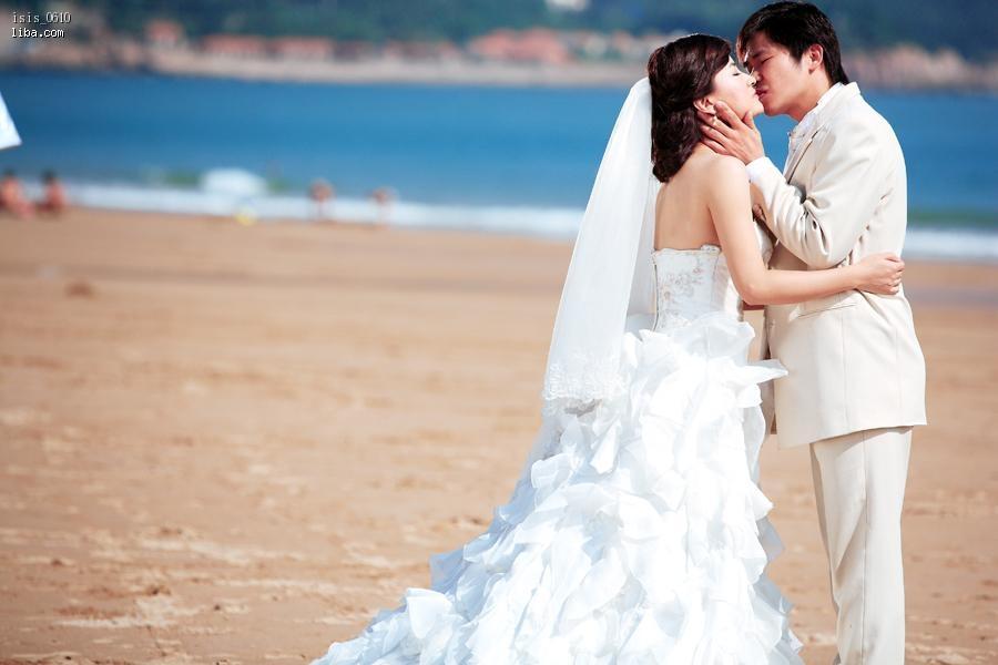 蓝色之恋,青岛海边超自然外景婚纱照 (照片更新中)