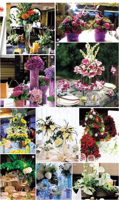 原木质感的花瓶给人以质朴纯真感,绿白搭配的花艺设计带来清爽感觉