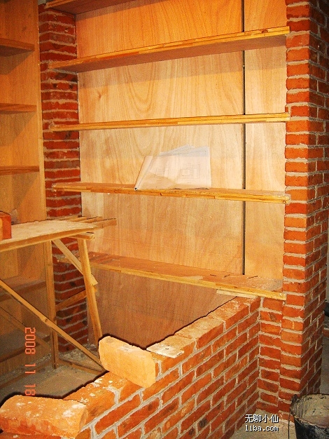红砖砌吧台结构图