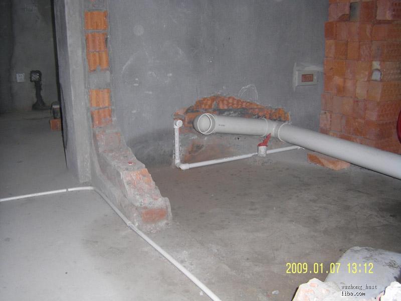 新马桶的位置,墙排