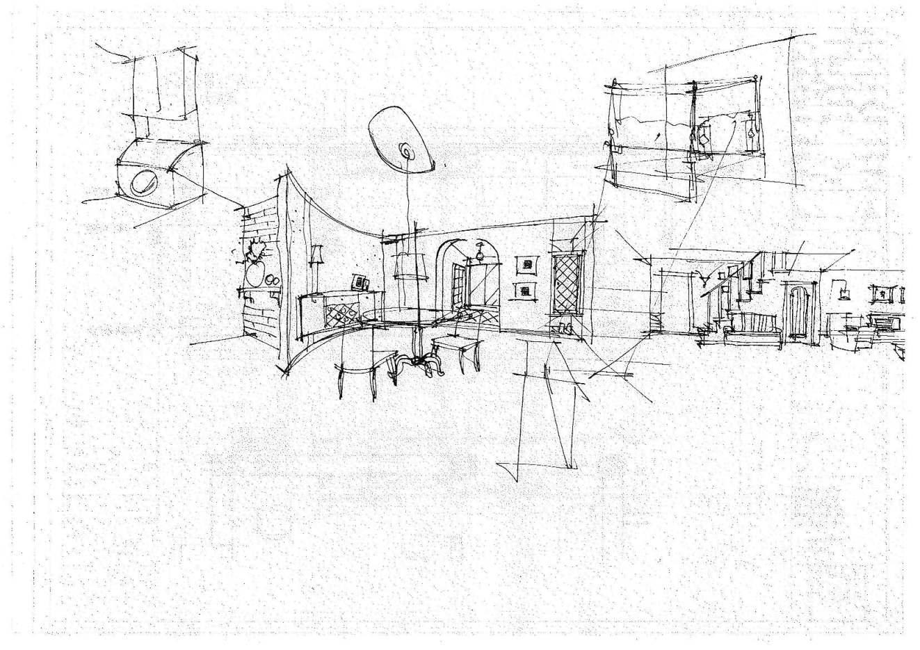 乡村房屋手绘图