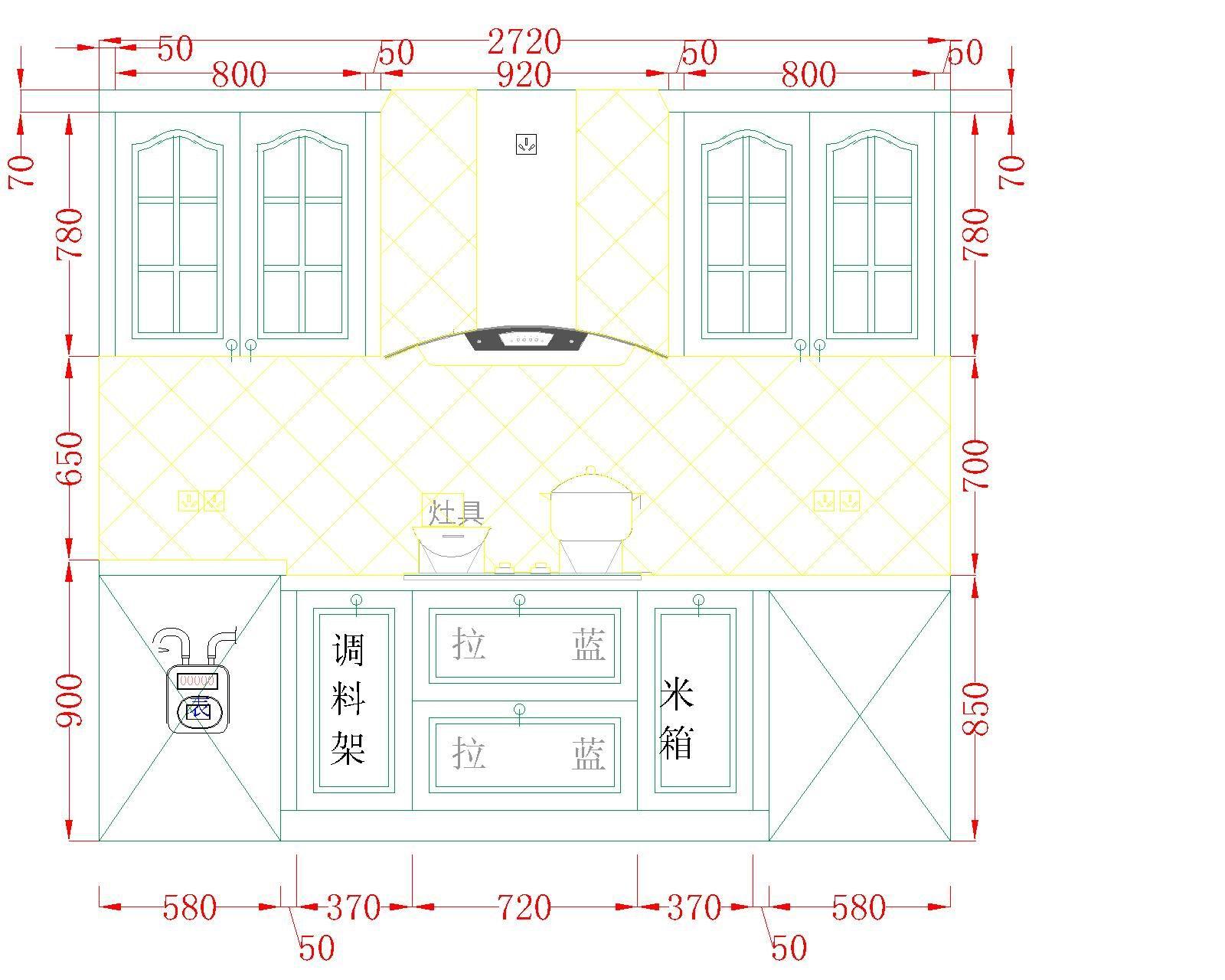 农村三间房平面设计图展示