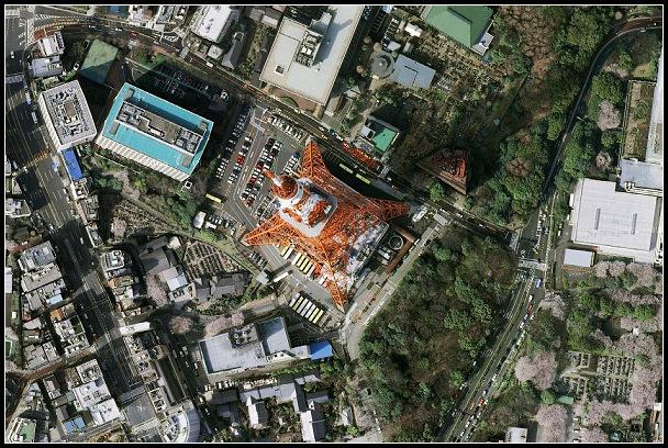 卫星看到的东京塔