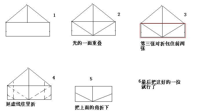 元宝的折法图解 纸元宝详细折