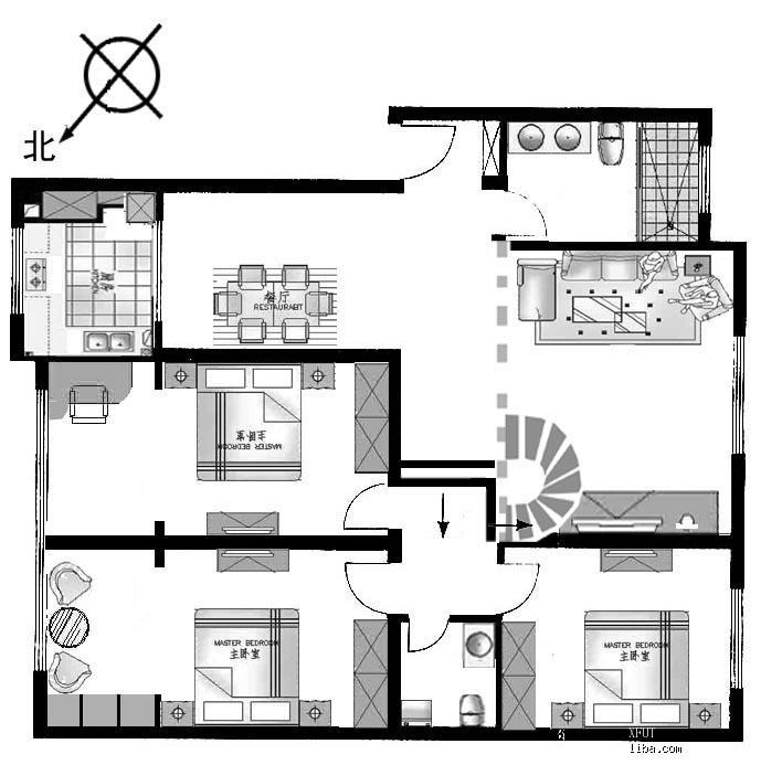 大家好,准备装修了 复式楼坡屋顶,客厅镂空的那种, 有房型图 装修