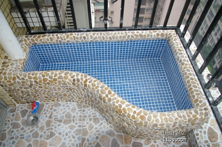 鱼池瓷砖效果图