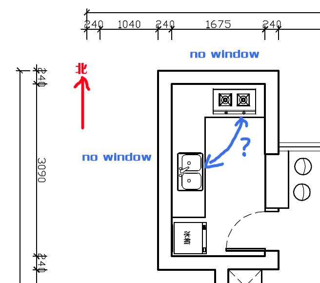 厨房电路设计草图