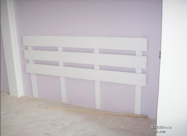 这个是木工做的床头近照