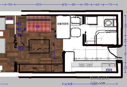 一字形厨房,帮忙设计!